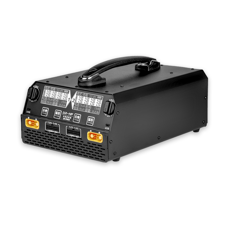 EV-PEAK U4-HP Balance Charger  Dual Channel for LiPo/LiHv 6S-14S Battery 2500W 25A