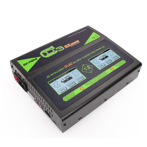 EV-PEAK CD3 2x 25A/200W DUO 6S LiPo Charger with Two Touch Screens
